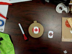 Canada Day Iris Stencil 4