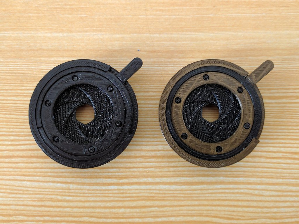 Steampunk goggles mechanical iris diaphragm
