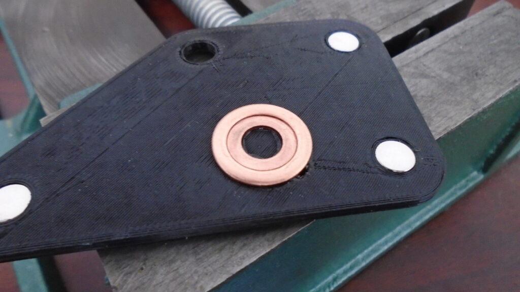 Projection weld jig bottom