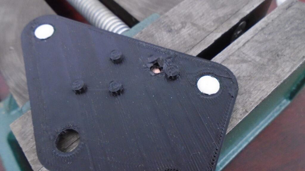 Projection weld jig top